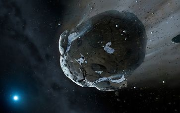 Bild: CC BY 2.0 / Hubble ESA / Artist's view of watery asteroid in white dwarf star system GD 61