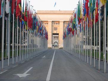 Flaggen vor dem UNO Gebäude (Symbolbild)