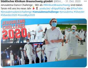 Bild: Twitter Jerusalema Challenge 2020 / Eigenes Werk