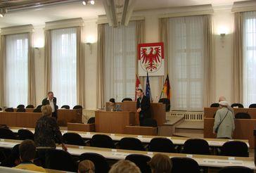 Potsdamer Landtag: Plenarsaal des Landtags, 2007 zum Tag der Offenen Tür
