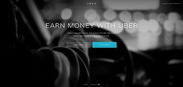 Screenshot der Webseite von uber.com
