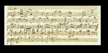 Mozart-Manuskript, 1783 (Ausschnitt) / Bild: J.A.Stargardt GmbH & Co. KG Fotograf: Michael Kersten