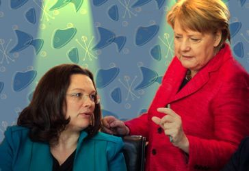 Andrea Nahles und Angela Merkel (2017)
