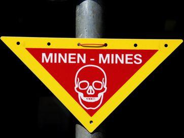 Warnzeichen Minen