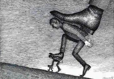 Repression = Unterdrückung (Symbolbild)