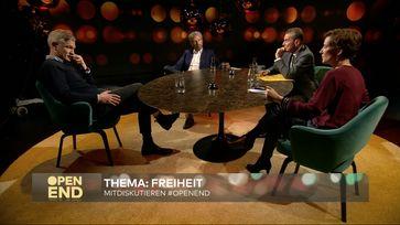 Katja Kipping, Boris Palmer, Ulf Poschardt, moderiert von Michel Friedman.  Bild: WELT Fotograf: WELT