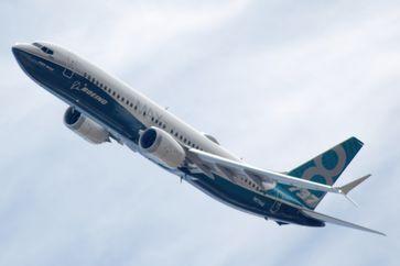 Boeing 737 MAX 8 während einer Flugvorführung