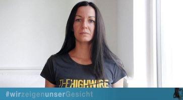 Die Initiatorin von #wirzeigenunserGesicht Dr. Maria Hubmer-Mogg Bild: #wirzeigenunsergesicht, Screenshot