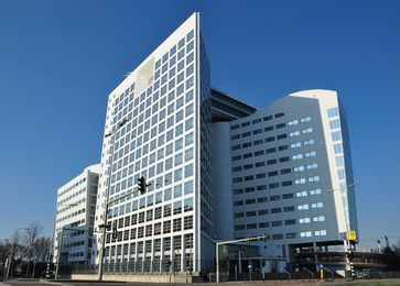 Das Gebäude des Internationalen Strafgerichtshofes in Den Haag