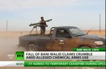 """Screenshot aus dem Youtube Video """"Video: Bani Walid In Ruins After Heavy Attack! """""""