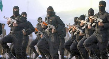 Spezialarmee von Saudi-Arabien, nicht von IS / ISIS /Deash zu unterscheiden (Symbolbild)