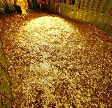 Geld und Gold im Tresor (Symbolbild)