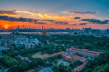 Moderne Skyline von Wuhan