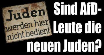 Die Parallelen sind nicht zu leugnen: Früher waren Juden ausgestoßene des Regimes, heute sollen es Anhänger der Alternative für Deutschland (AfD) sein (Symbolbild)