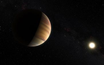 Künstlerische Darstellung des Exoplaneten 51 Pegasi b.
