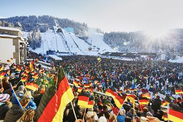 Fans in Garmisch-Partenkirchen