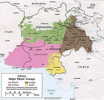 Siedlungsgebiet der Belutschen in Rosa