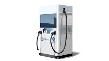 """Die flexible Schnellladesäule von Volkswagen Group Components und DU-POWER New Energy Technical Co., Ltd. /  Bild: """"obs/Volkswagen Konzern Komponente/Volkswagen Group Components"""""""