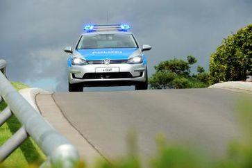"""Der erste e-Golf als Polizei-Einsatzfahrzeug ist demnächst auf Helgoland unterwegs. Bild: """"obs/VW Volkswagen AG/Volkswagen AG"""""""