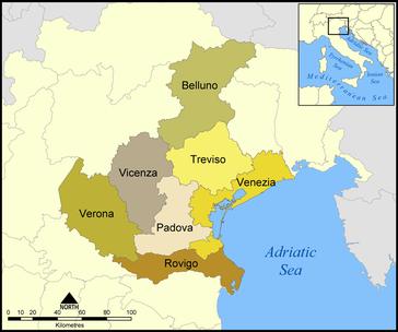 Provinzen in Venetien
