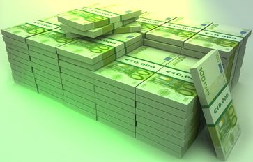 Vergleich: 1 Million Euro in 100 Euro Scheinen