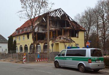 Das ausgebrannte Haus in Zwickau.