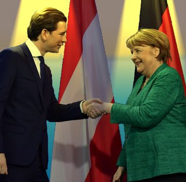 Sebastian Kurz und Angela Merkel (2018)