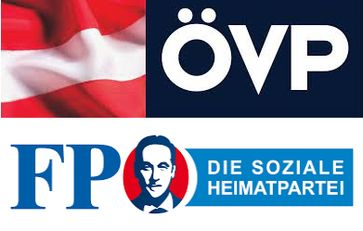 ÖVP und FPÖ Koalition (Symbolbild)
