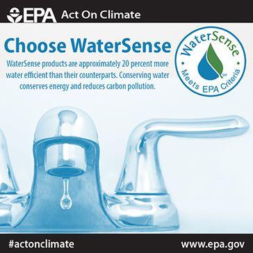 EPA poster publicizing WaterSense products