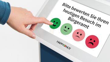 HappyOrNot Feedbacksystem Bild: HappyOrNot GmbH Fotograf: HappyOrNot GmbH