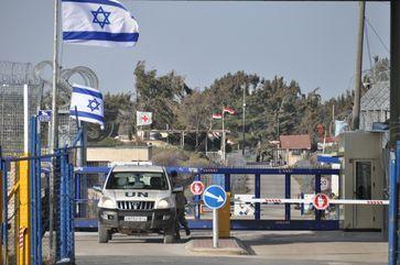 Von österreichischen UNTSO-Truppen gesicherter Grenzübergang zwischen Israel und Syrien.