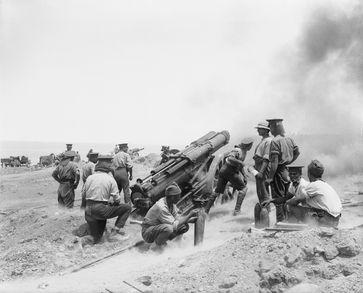 Artillerie bestimmte das Kriegsgeschehen maßgeblich