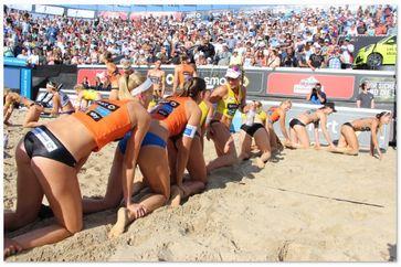 Tradition nach der Siegerehrung in Timmendorfer Strand. Bild: Karl Koch ExtremNews