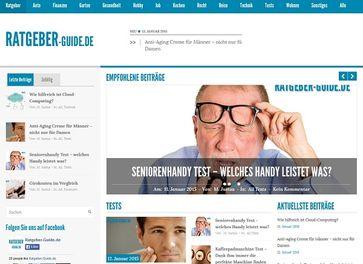 """Screenshot von der Webseite """"ratgeber-guide.de"""""""