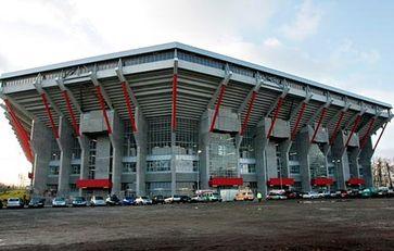 Außenansicht des Fritz-Walter-Stadions