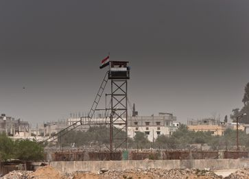 Grenze zum Gazastreifen zwischen Rafah und  Ägypten.