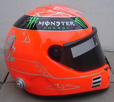 Ein Helm von Michael Schumacher