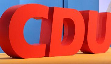 CDU Logo auf dem 27. Bundesparteitag Dezember 2014