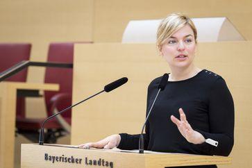 Katharina Schulze im Bayerischen Landtag 2017
