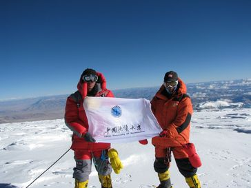 Bergsteiger mit Funktionsbekleidung