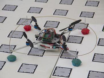 Der Quadcopter der TU Wien. Bild: Copyright TU Wien (idw)