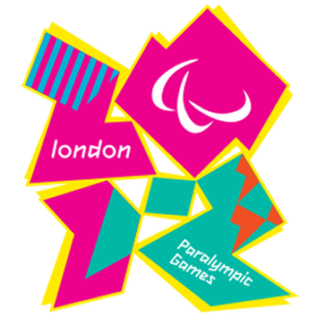 Logo der Paralympics 2012 in London