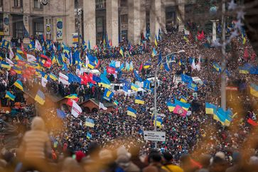 Ukraine: Demonstrationen auf dem Majdan Nesaleschnosti, Kiew