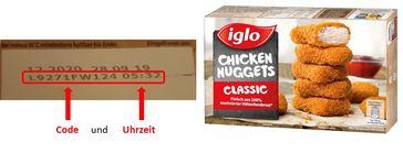 """Codes auf der Verpackung. / Bild: """"obs/iglo Deutschland"""""""