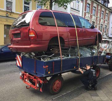 Ladungssicherung? Der Fahrer zuckte nur mit den Schultern ...