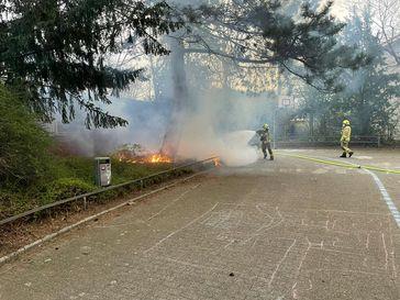 Flächenbrand Ratingen Lintorf Bild: Feuerwehr