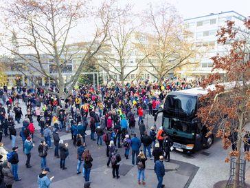 Demonstration für Frieden, Freiheit und Demokratie in Pforzheim am 21.11.2020