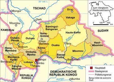 Präfekturen der Zentralafrikanischen Republik