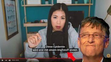 Mai Thi Nguyen-Kim Bild: Screenshot: Youtube/maiLab; Gates - wikimedia: World Economic Forum, Sebastian Derungs, CC BY-SA 2.0 / WB / Eigenes Werk