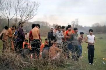 Flüchtlingskinder an der Türkisch-Griechischen-Grenze (Symbolbild)